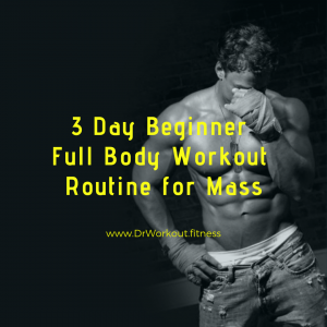 3 Day Beginner Workout Routine for Mass