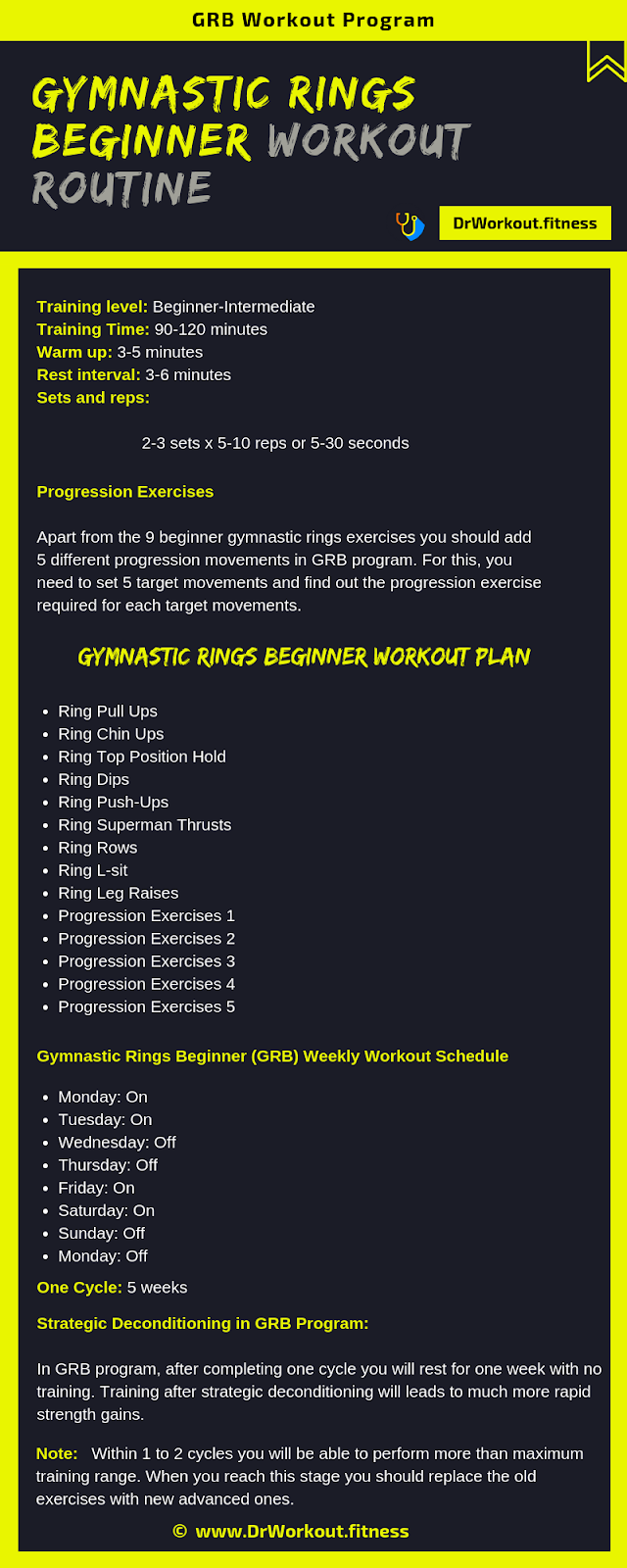 GYMNASTIC RINGS BEGINNER WORKOUT ROUTINE