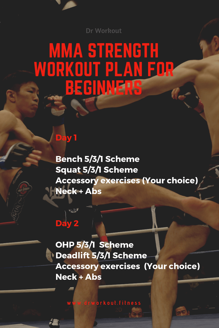 MMA Strength Workout Plan for Beginners