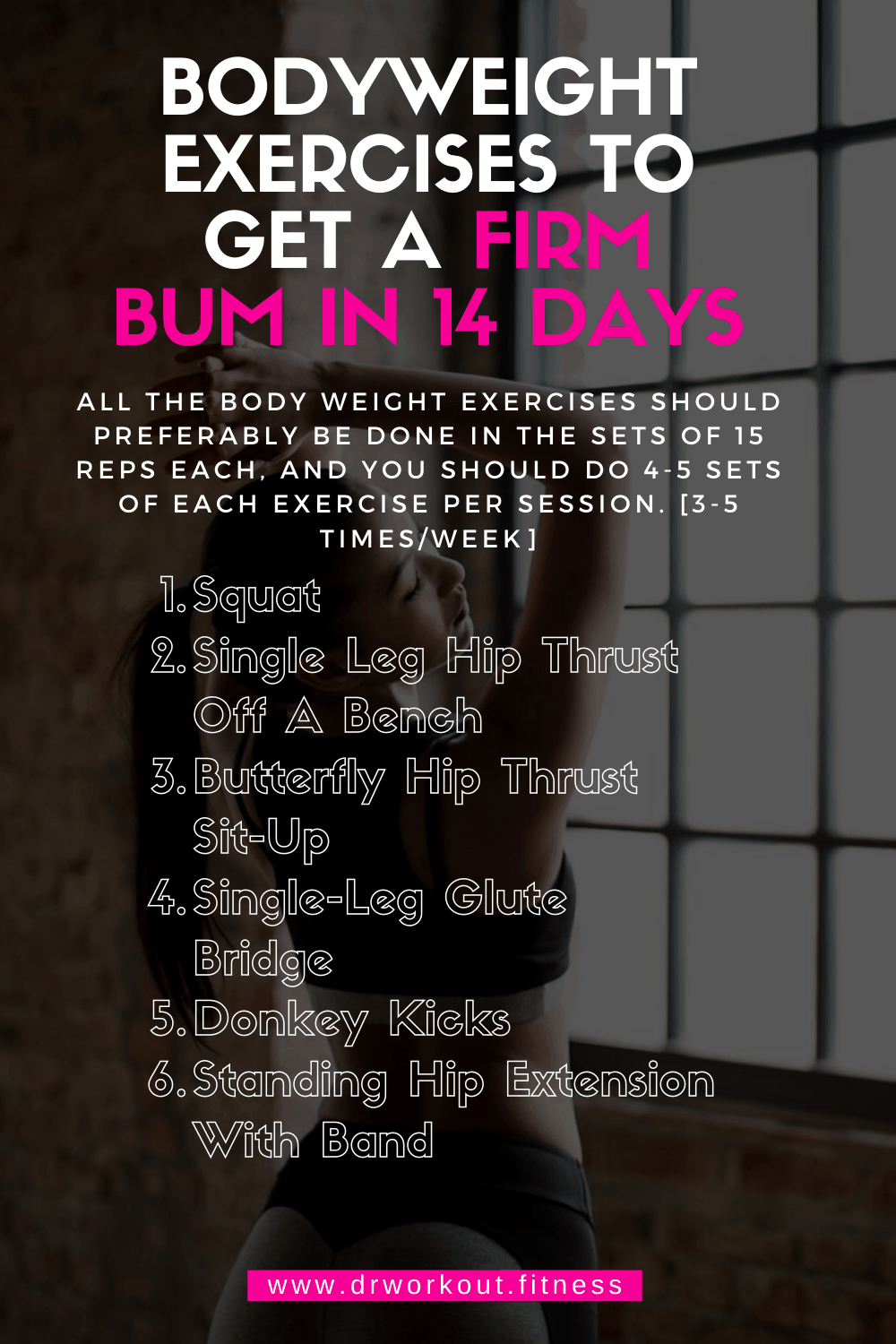 Bodyweight exercises to get a firm bum in 14 days