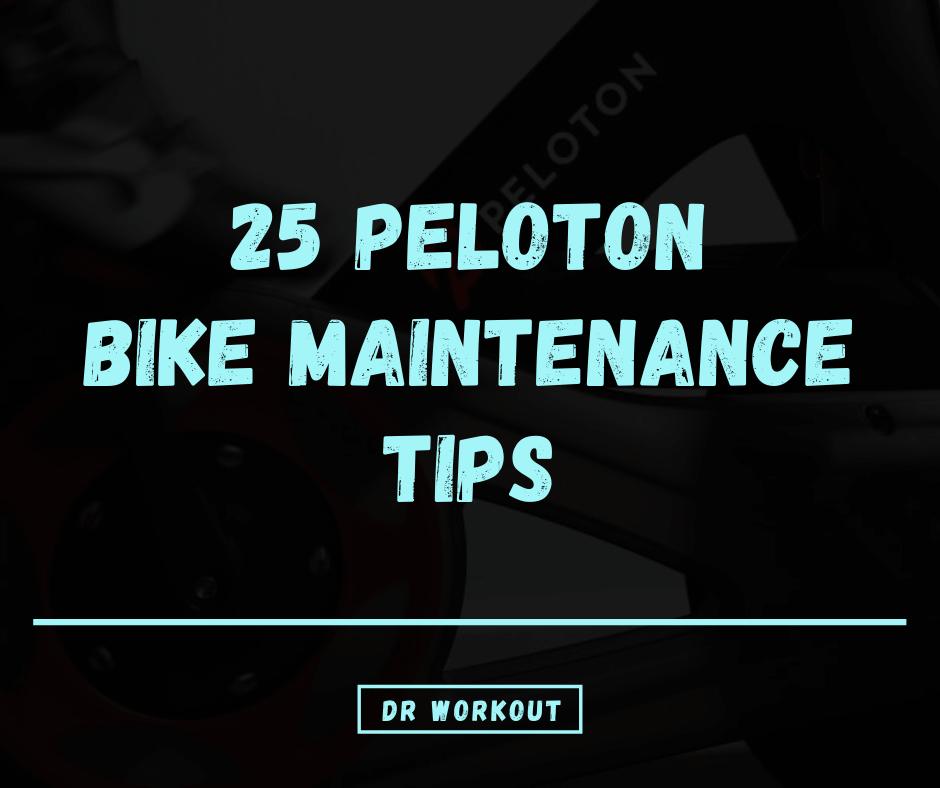 Peloton Bike Maintenance