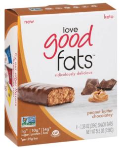 Are Love Good Fats Bars Keto Friendly