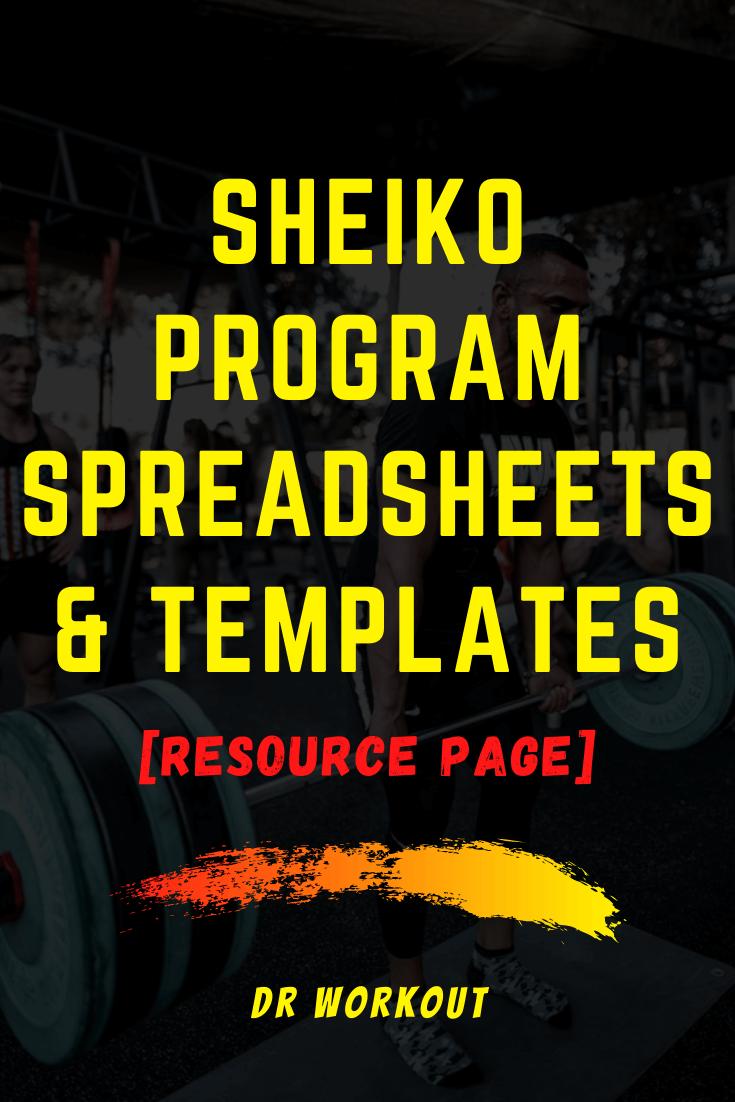 Sheiko Program Spreadsheets & Templates