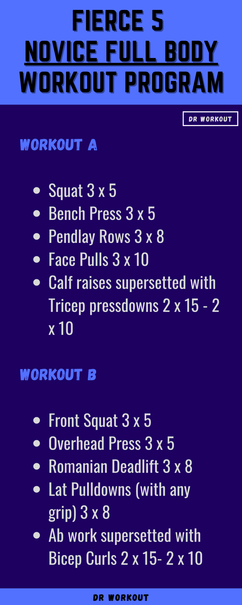 Fierce 5 Novice Full Body Workout Program