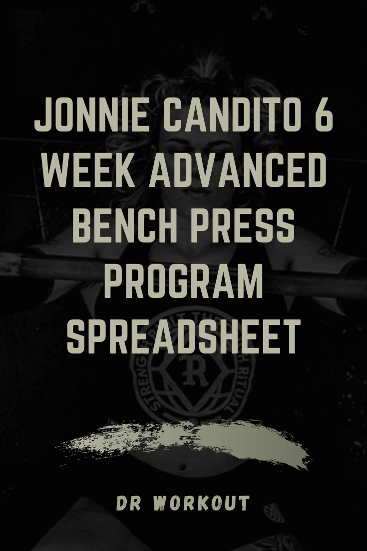 Jonnie Candito 6 Week Advanced Bench Press Program