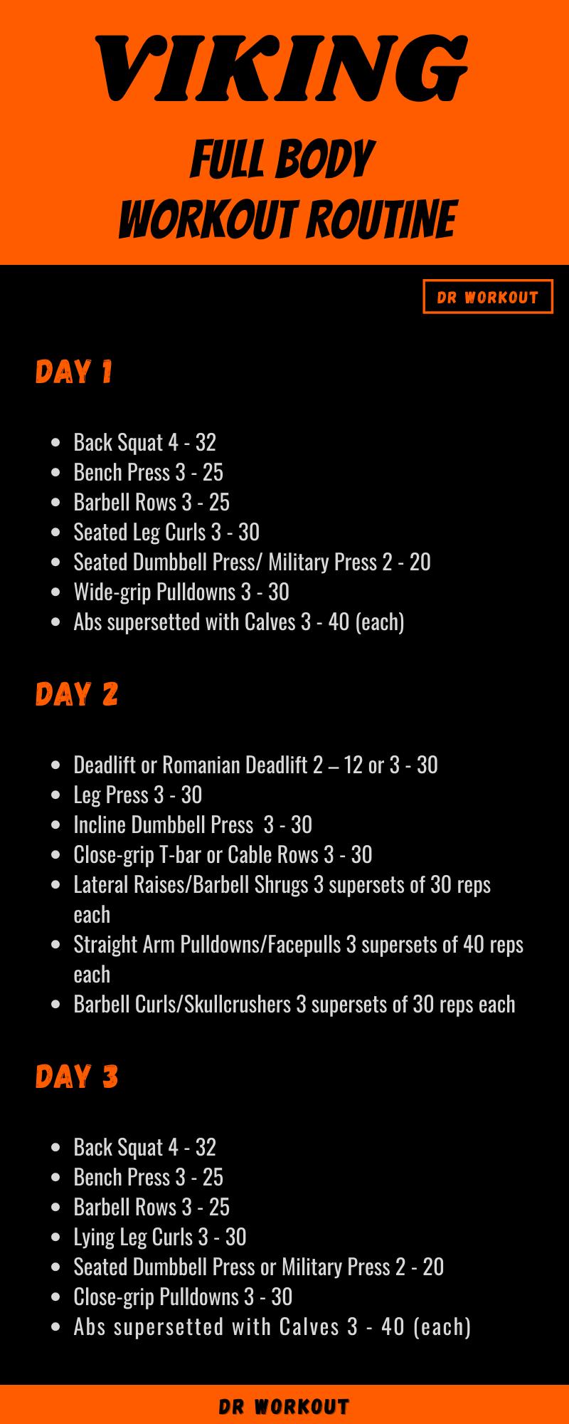 Viking Full Body Routine