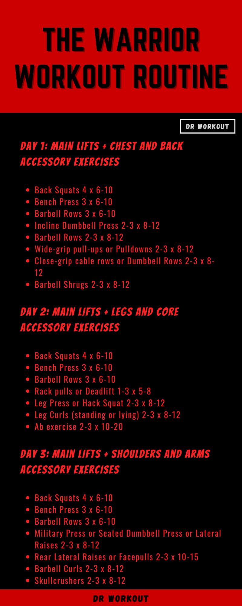 Warrior Workout Routine