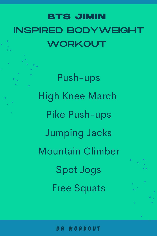 Jimin Bodyweight Workout Routine