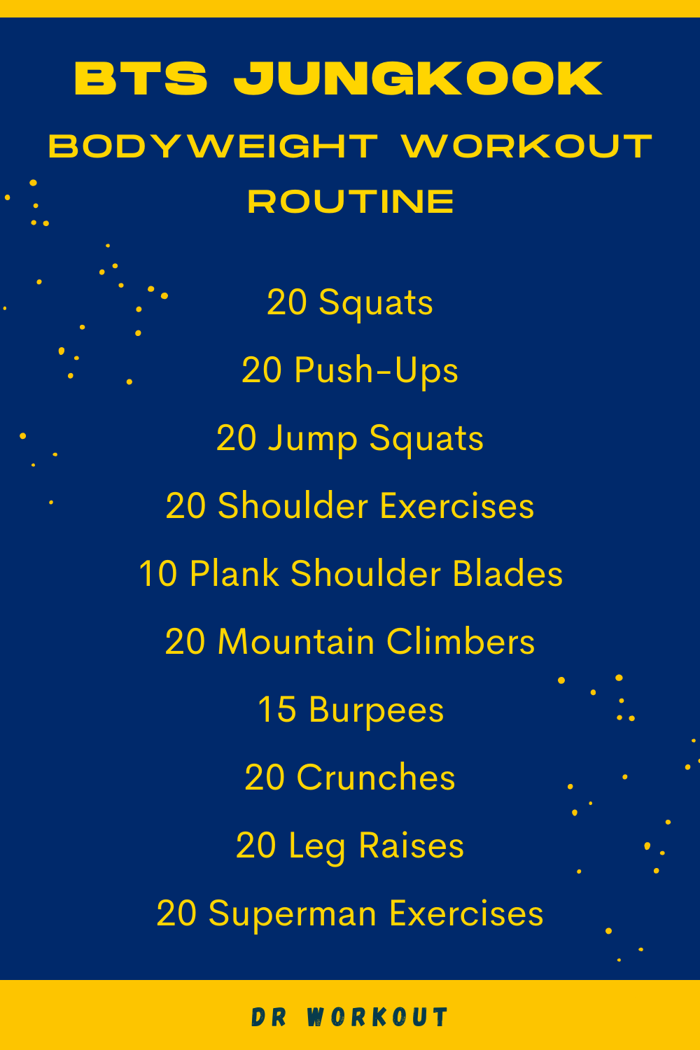Jungkook Workout Routine