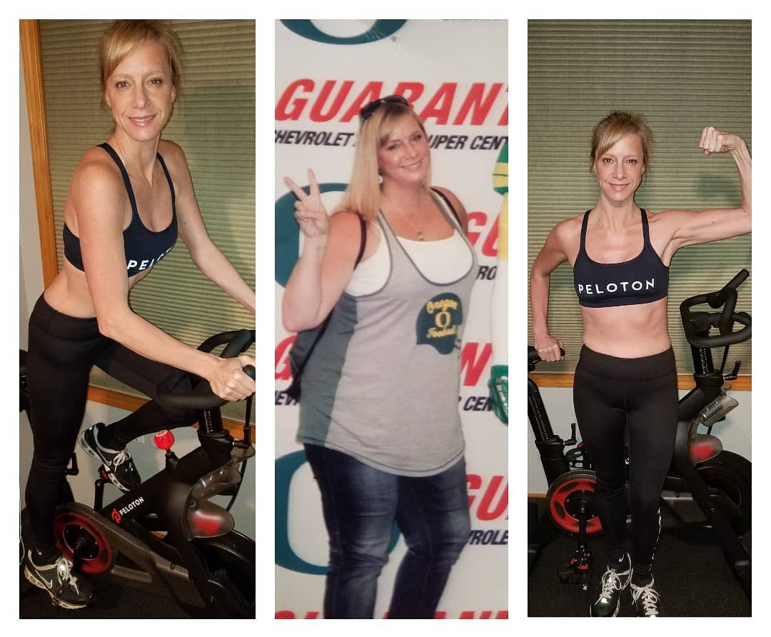 Amanda Bryant peloton bike weight loss before and after