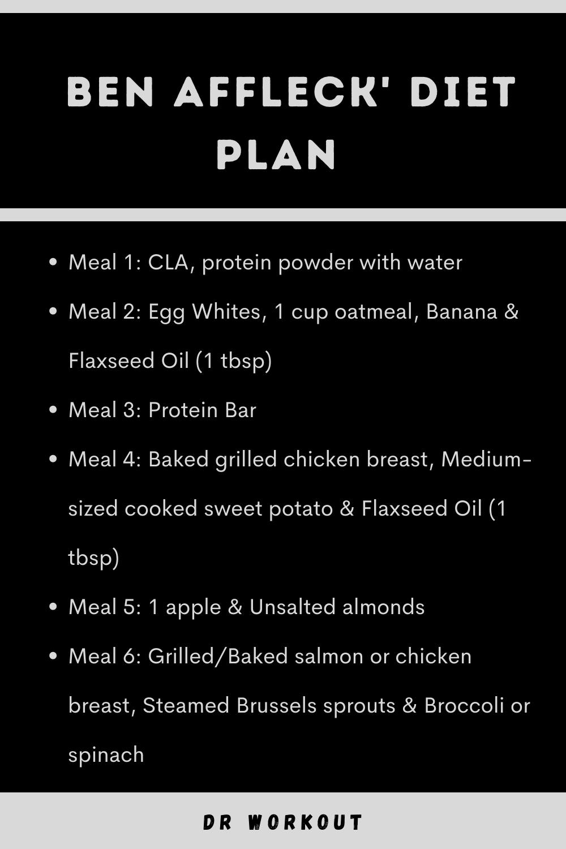 Ben Affleck Diet Plan