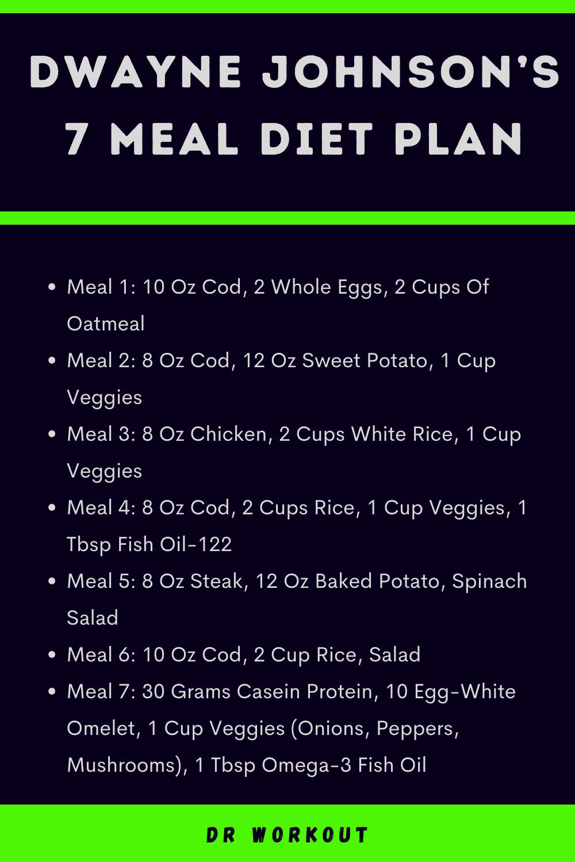 Dwayne Johnson 7 Meal Diet Plan
