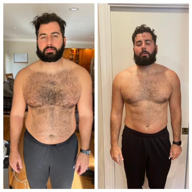 Nick before and after peloton transformation