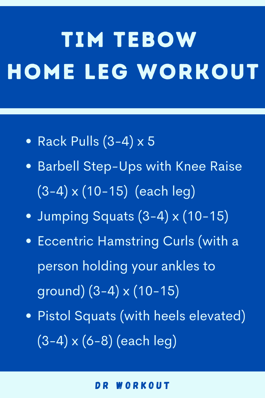 Tim Tebow Home Leg Workout