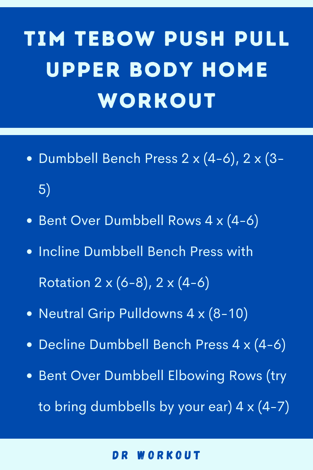 Tim Tebow Push Pull Upper Body Home Workout