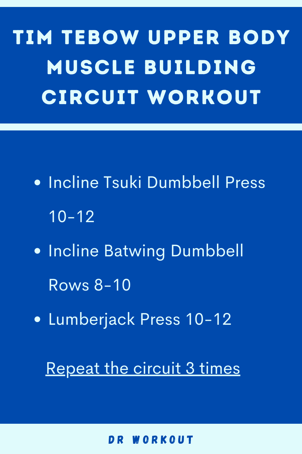 Tim Tebow Upper Body Circuit Workout