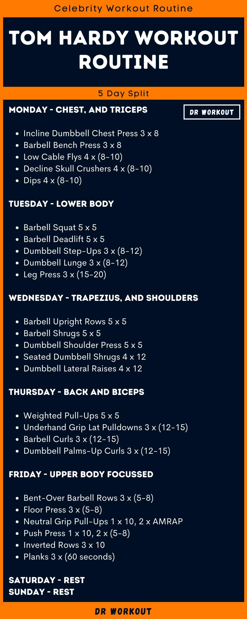 Tom Hardy Workout Routine