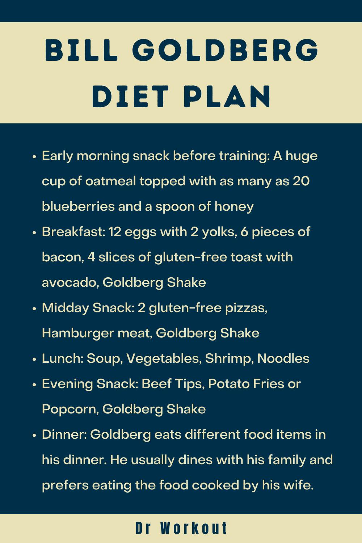 Bill Goldberg Diet Plan