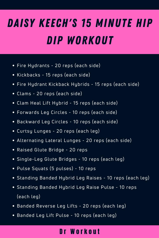 Daisy Keech 15 Minute Hip Dip Workout