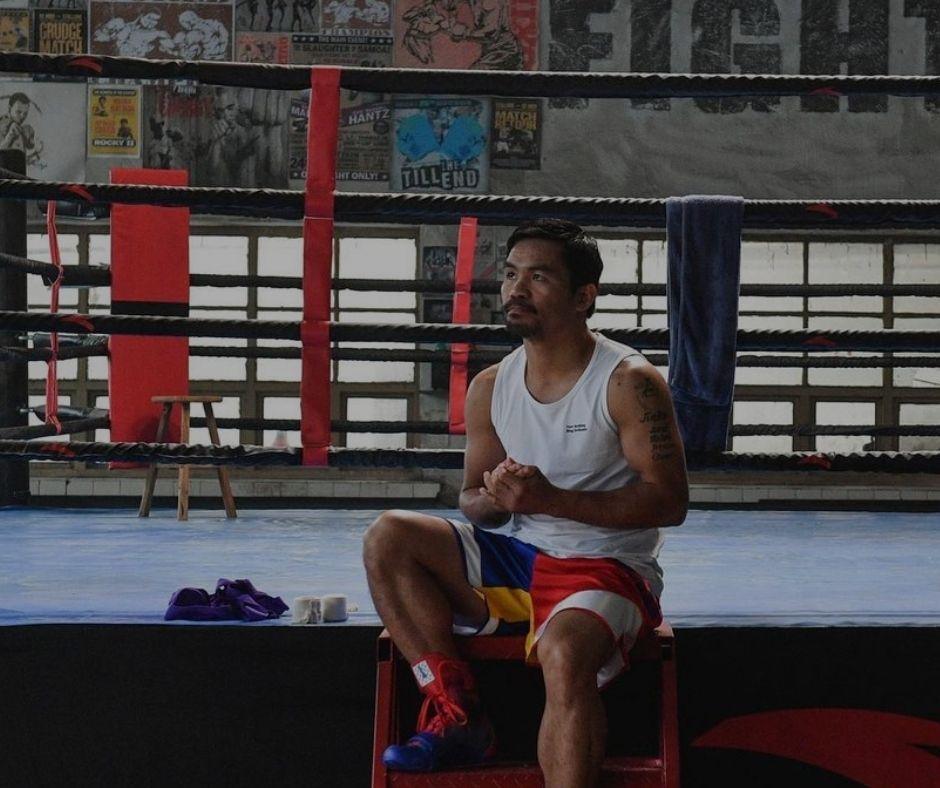 Manny Pacquiao boxing training