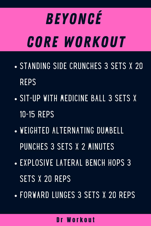 Beyoncé Core Workout
