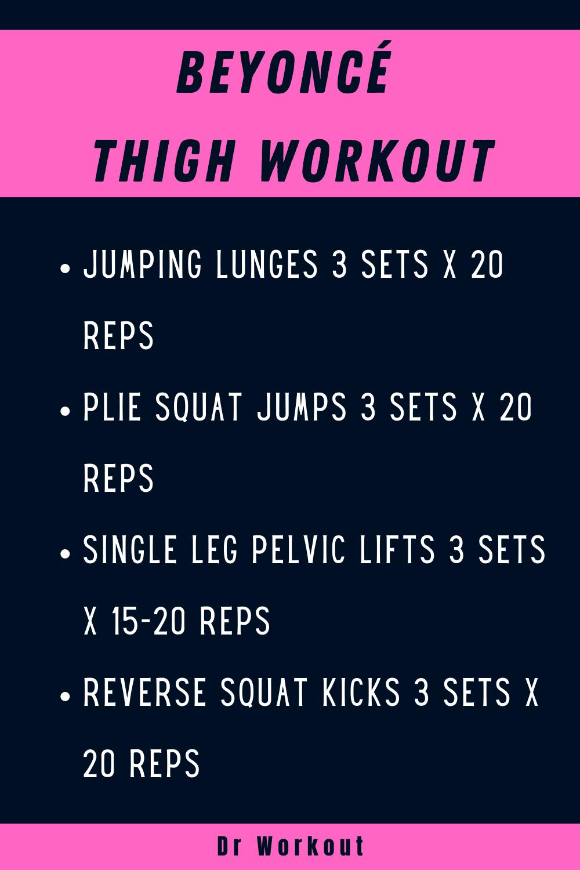 Beyoncé Thigh Workout