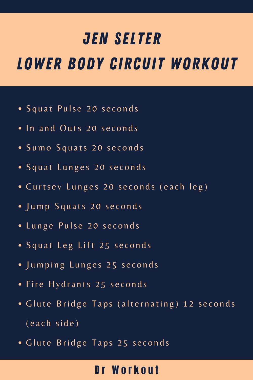 Jen Selter Lower Body Circuit Workout