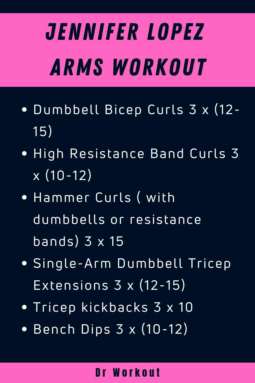 Jennifer Lopez Arms Workout