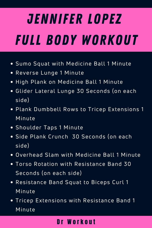 Jennifer Lopez Full Body Workout