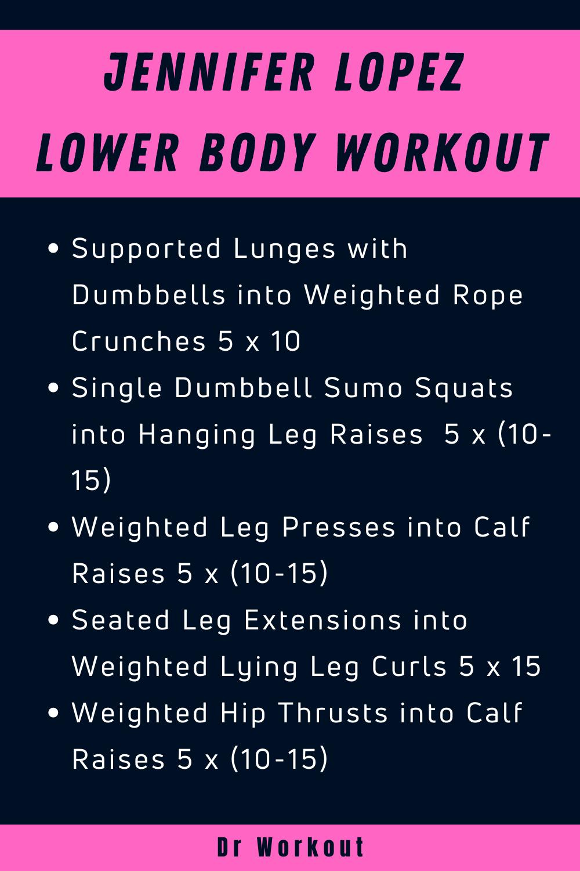 Jennifer Lopez Lower Body Workout