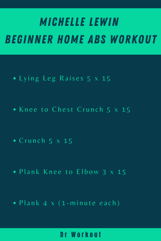 Michelle Lewin Beginner Home Abs Workout