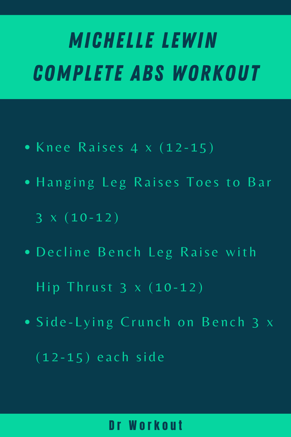 Michelle Lewin Complete Abs Workout