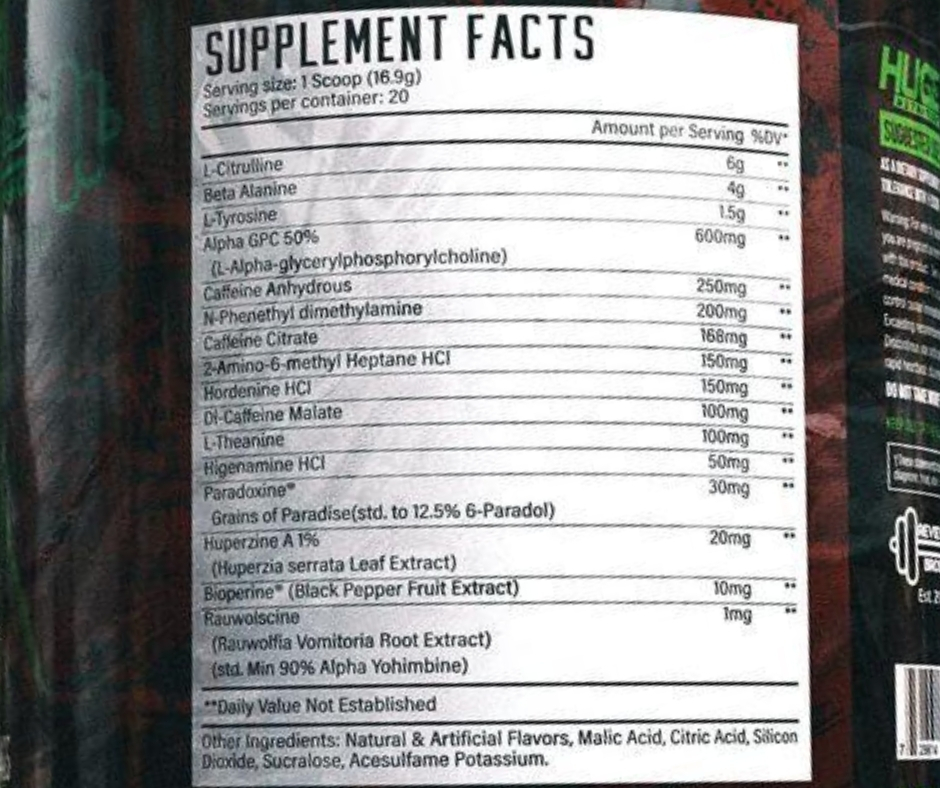 Wrecked Extreme Pre-Workout Ingredients