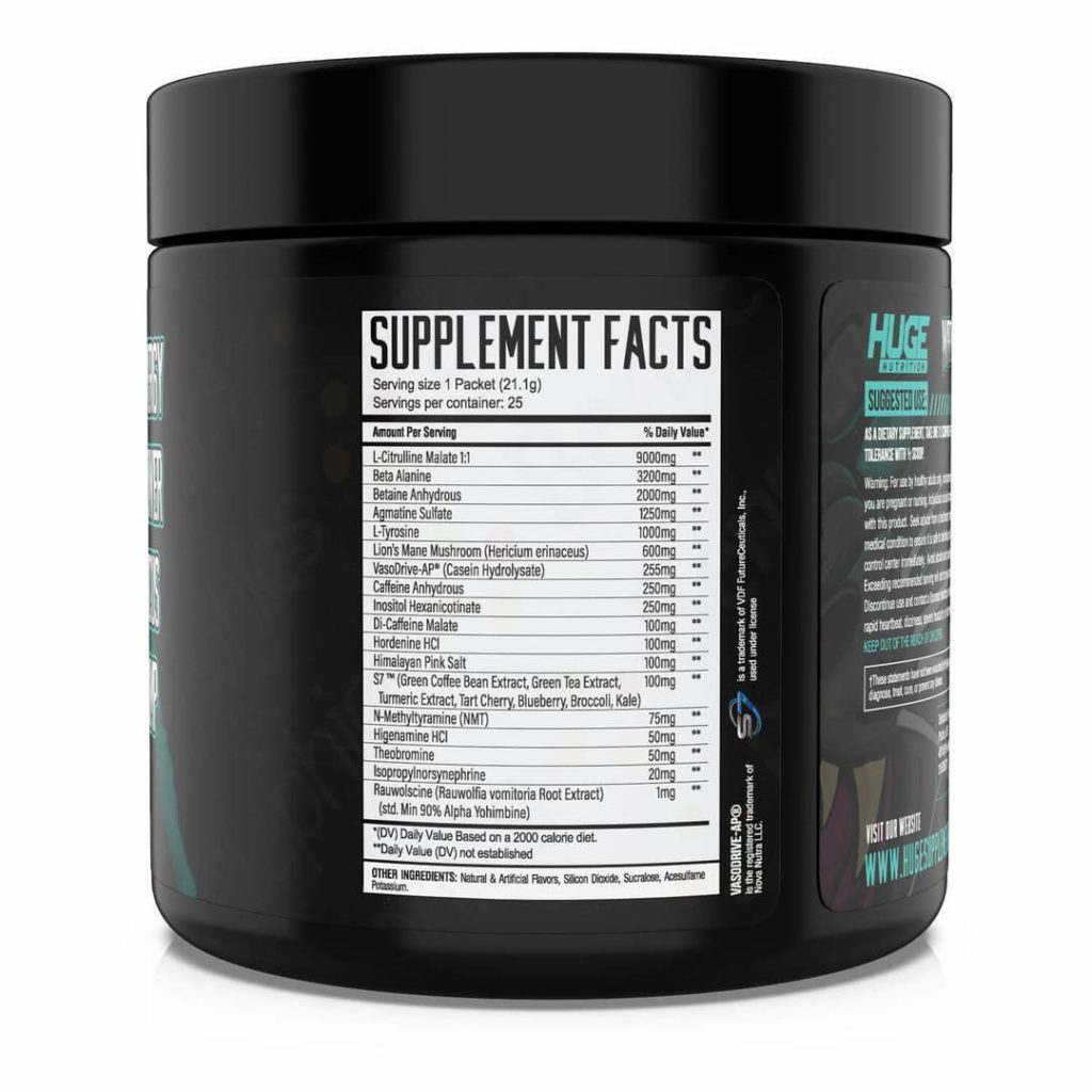Wrecked Pre Workout Ingredients
