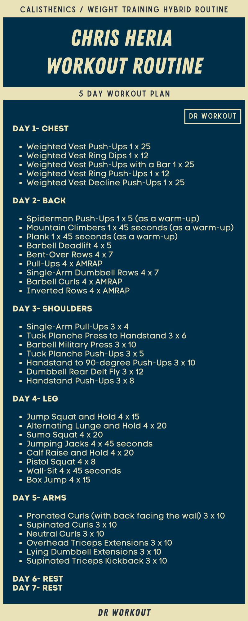 Chris Heria Workout Routine