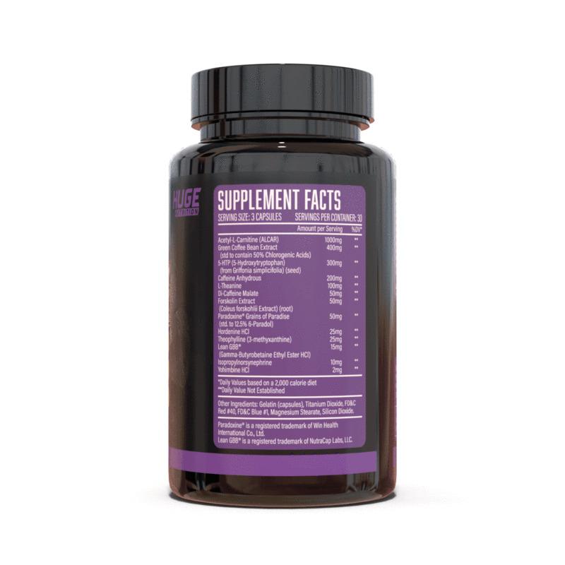 Eliminate Fat Burner Ingredients Label