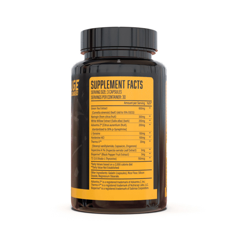 Exterminate Fat Burner Ingredients Label