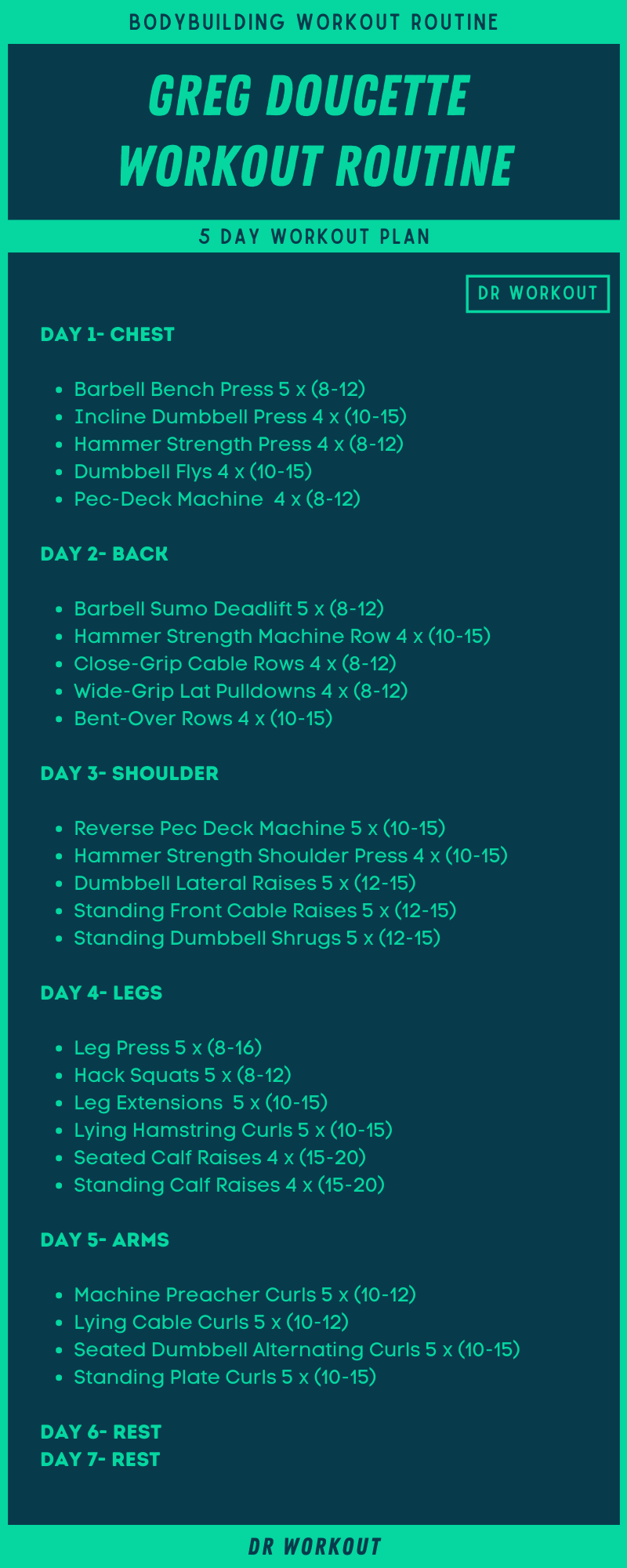 Greg Doucette Workout Routine