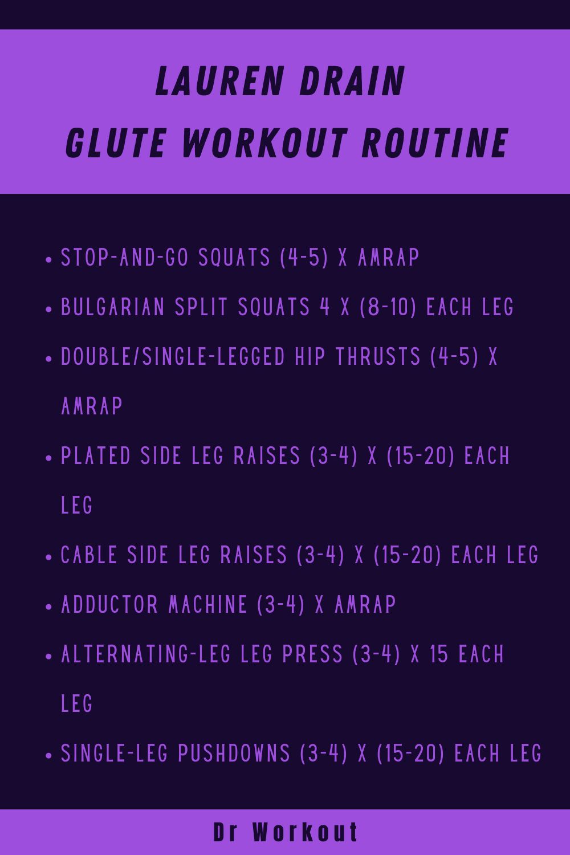 Lauren Drain Glute Workout Routine