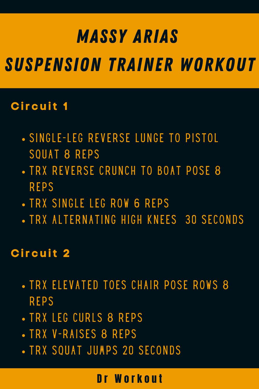 Massy Arias Suspension Trainer Workout