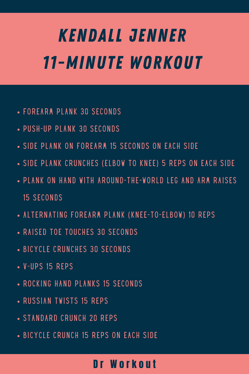 Kendall Jenner 11-Minute Workout