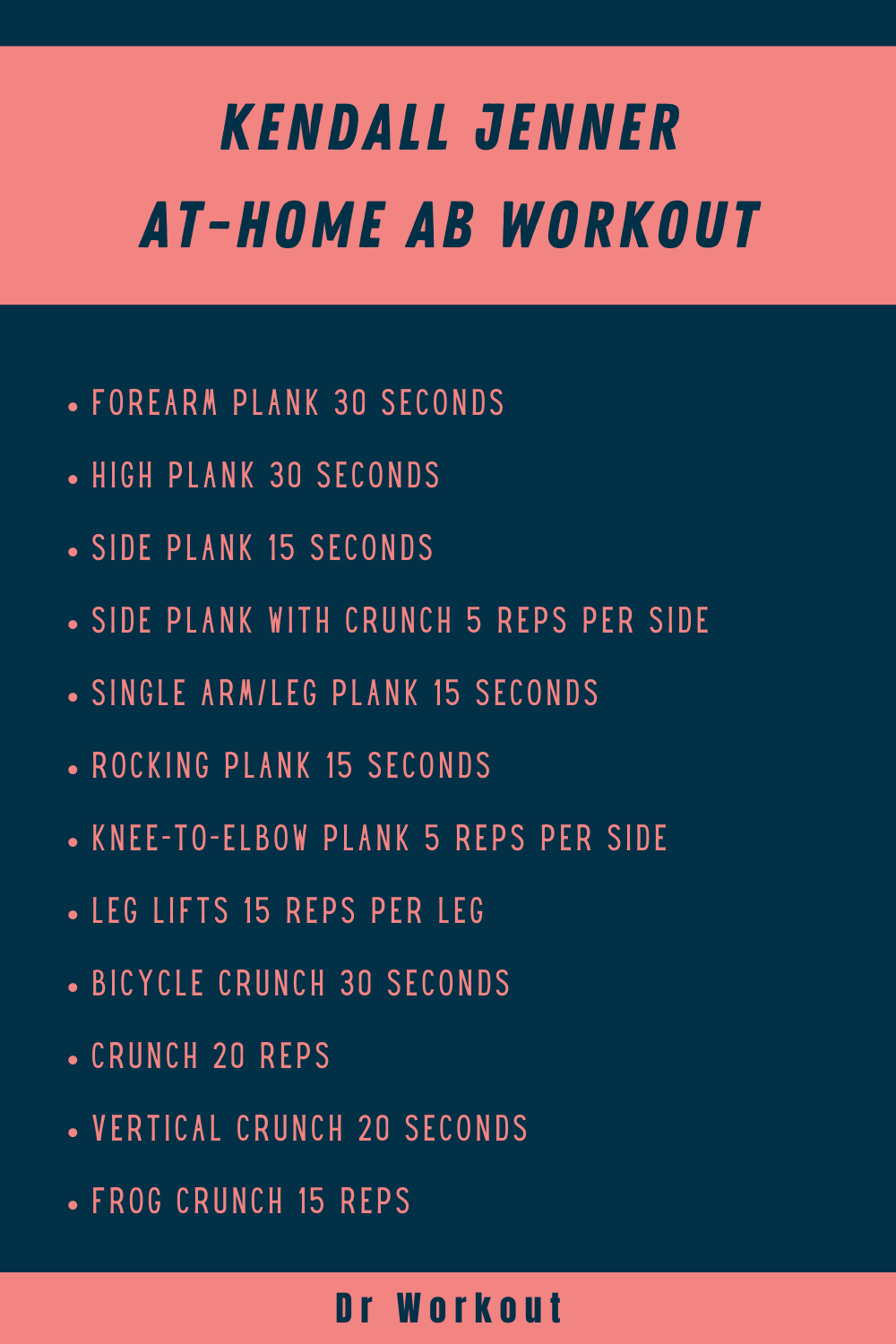 Kendall Jenner At-Home Ab Workout