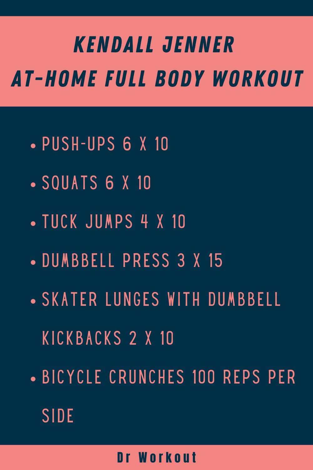 Kendall Jenner At-Home Full Body Workout