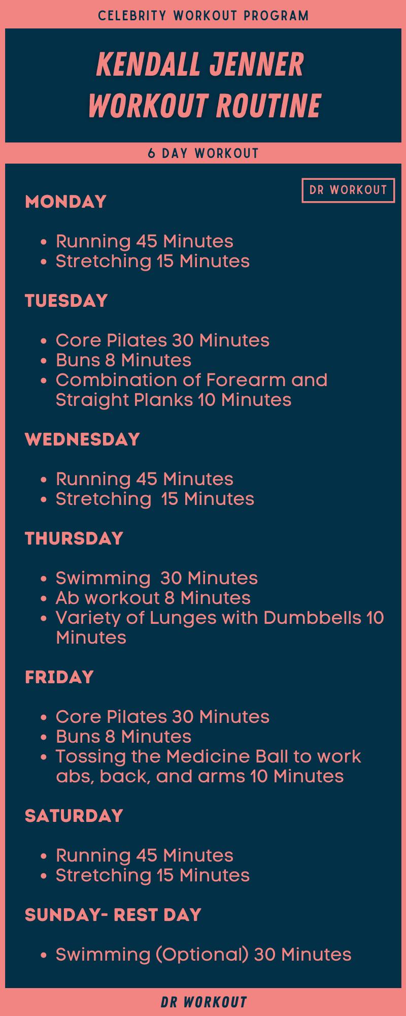 Kendall Jenner Workout Plan