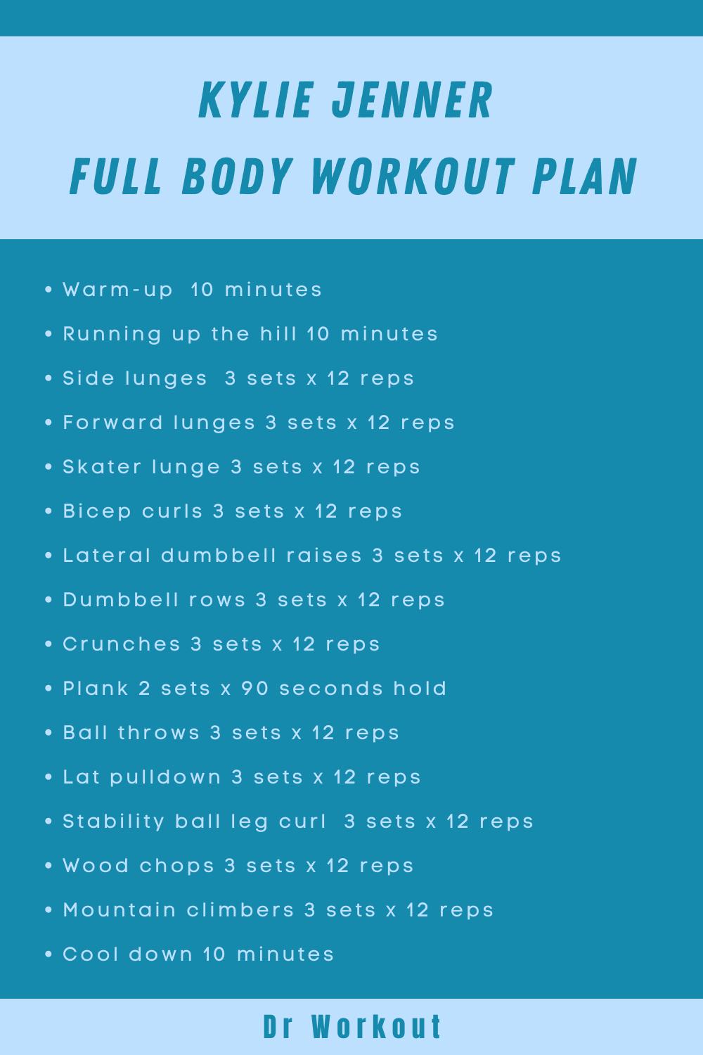 Kylie Jenner Full Body Workout Routine