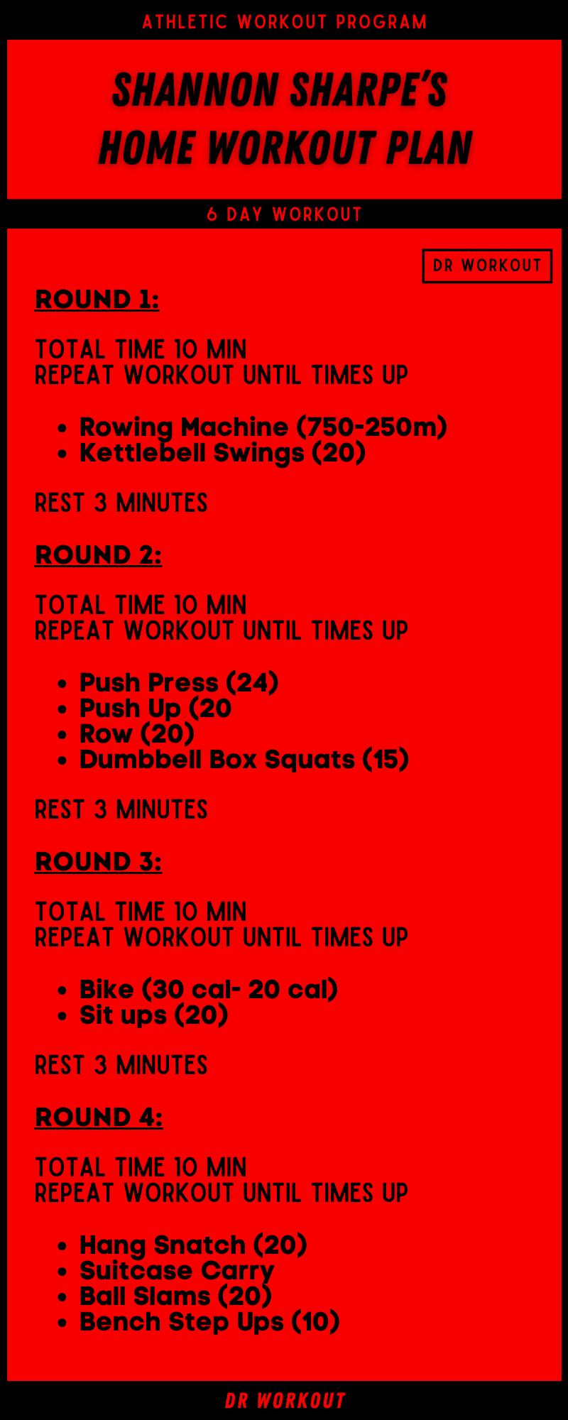 Shannon Sharpe Home Workout Plan