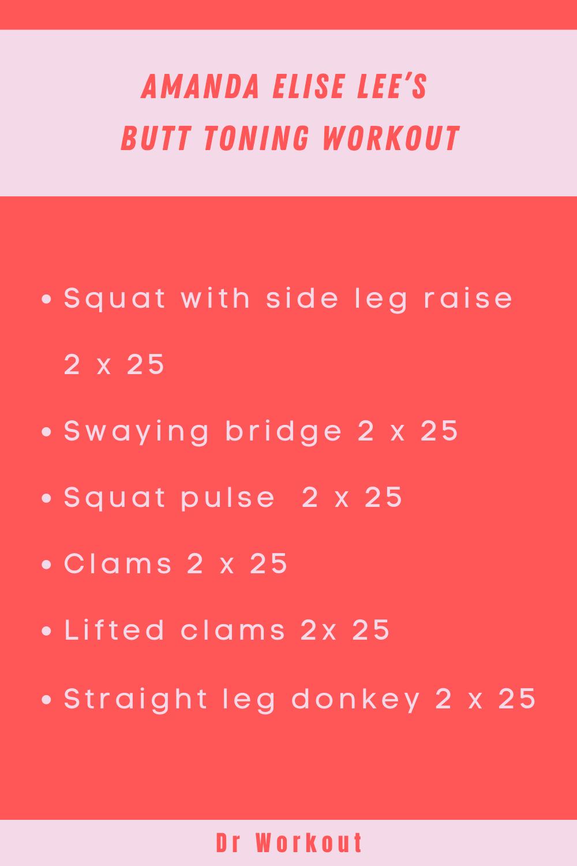 Amanda Elise Lee's Butt Toning Workout