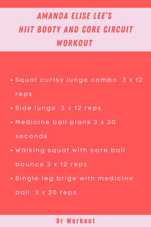 Amanda Elise Lee's HIIT Booty & Core Circuit Workout