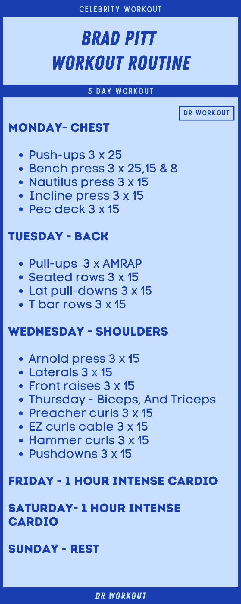 Brad Pitt Workout Plan