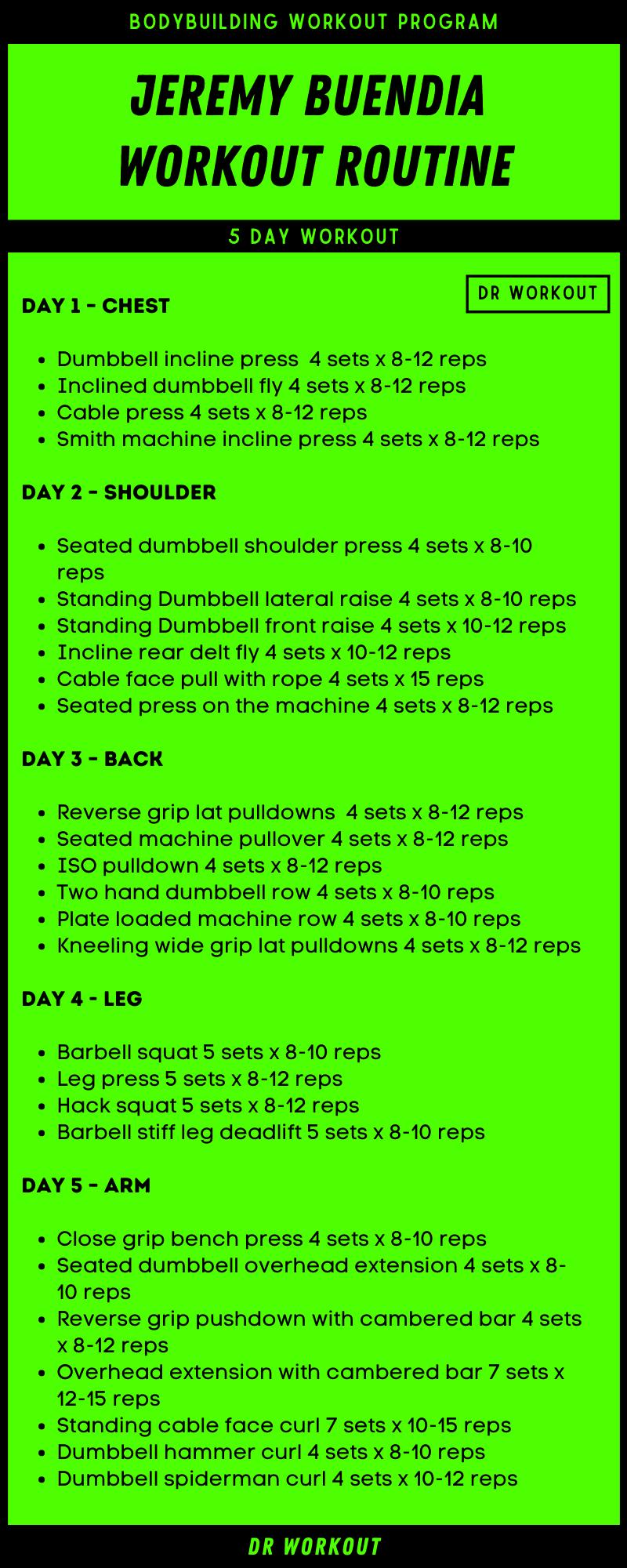 Jeremy Buendia Workout Routine